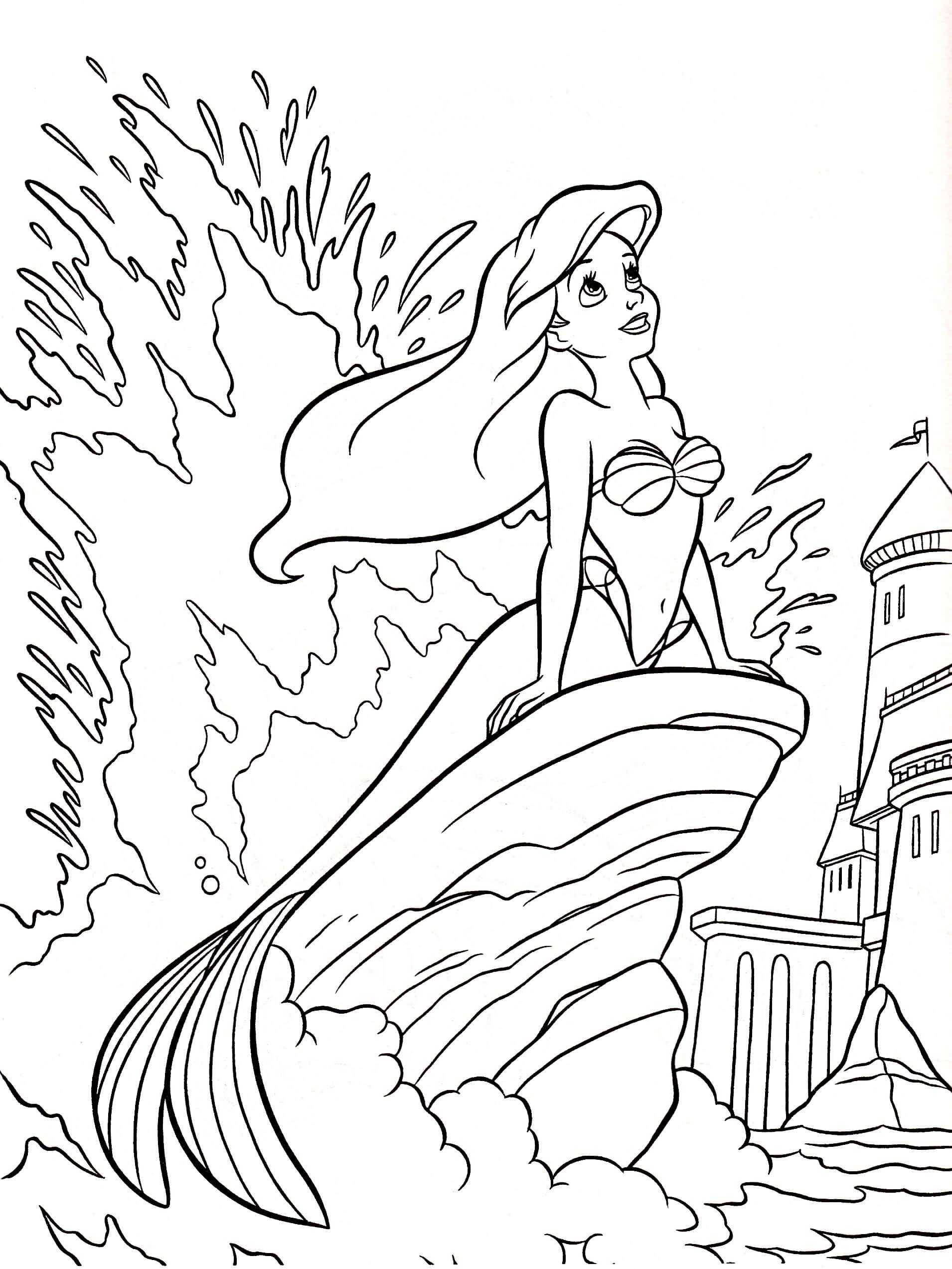 Coloring Pages Disney Ariel at GetDrawings   Free download