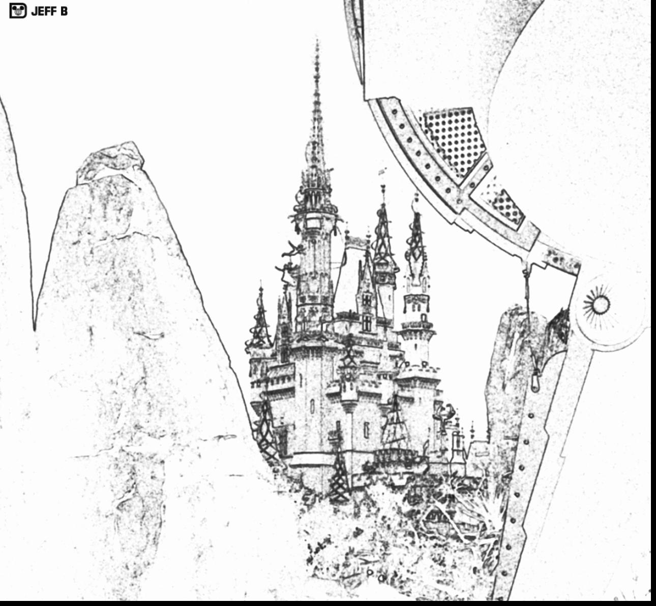 Coloring Pages Disney Castle