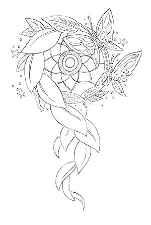300x446 Dream Catcher Coloring Sheets Media Dream Catcher Coloring Pages