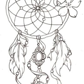 268x268 Coloring Pages For Adults Dreamcatcher Archives