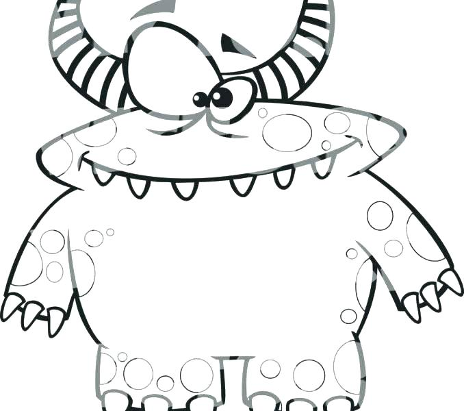 678x600 Coloring Page Monster Monster House Coloring Pages Monster House