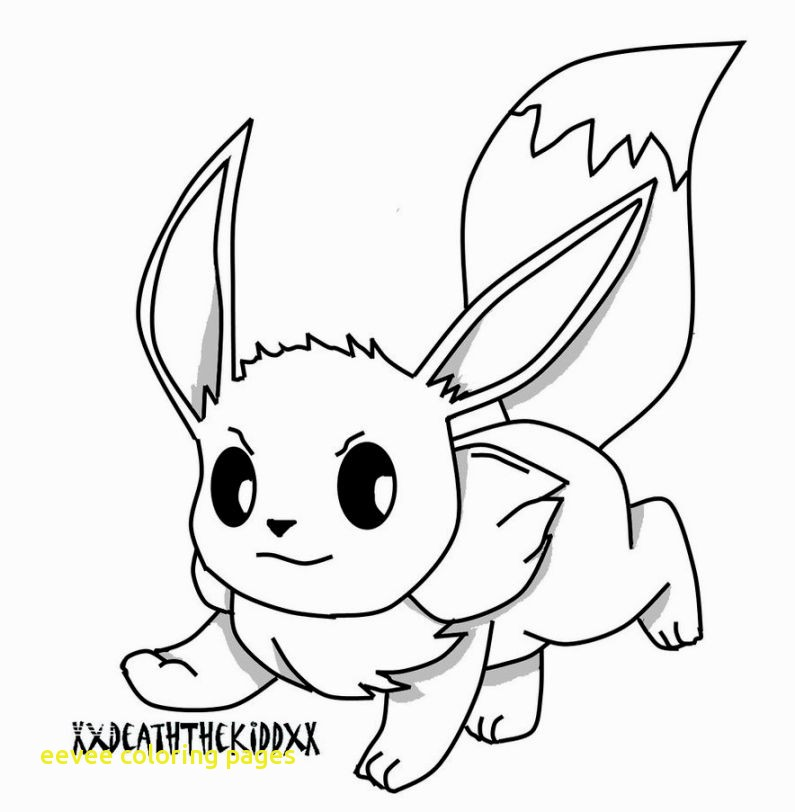 795x812 Eevee Coloring Pages With Pokemon Coloring Pages Eevee Anime