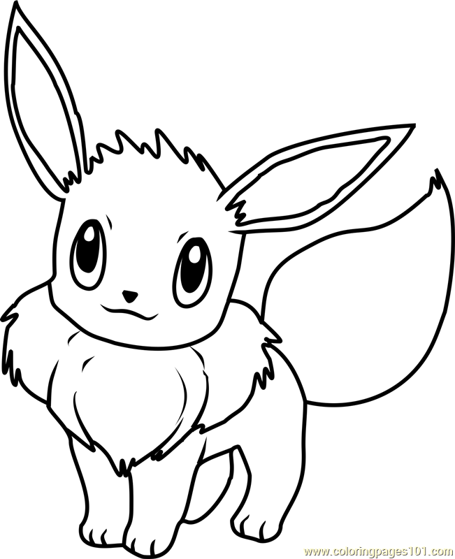 651x800 Eevee Pokemon Coloring Page