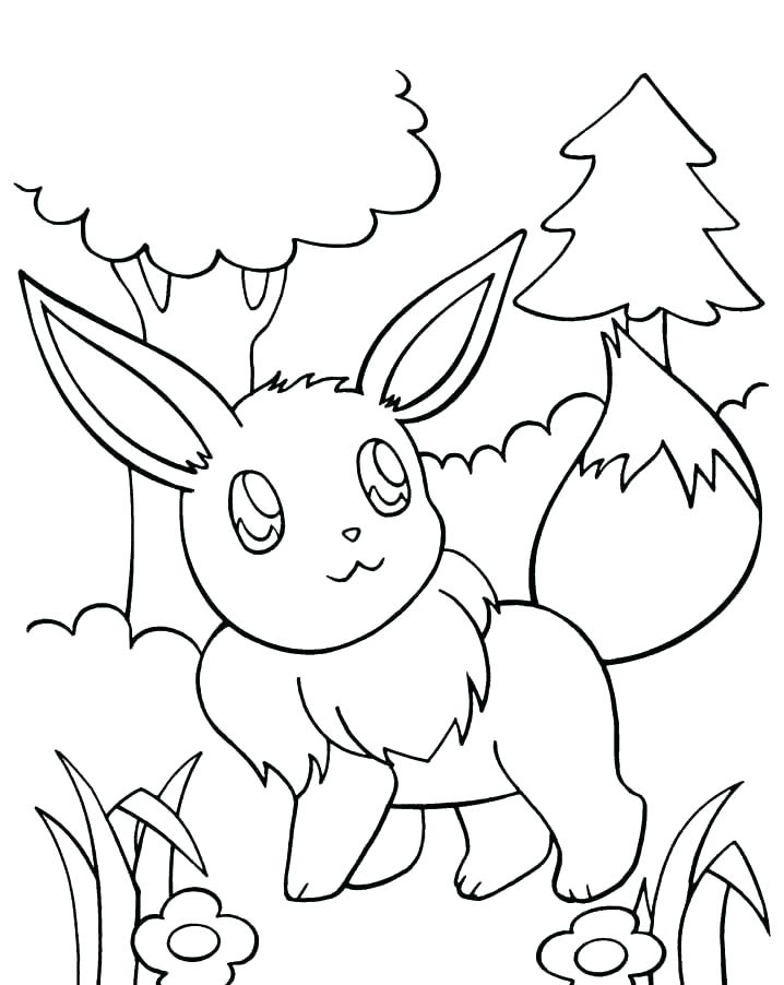 718x902 Interesting Pokemon Coloring Pages Eevee Printable Coloring Pages