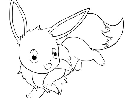 440x330 Pokemon Coloring Pages Eevee Cute Pokemon Coloring Pages Cute