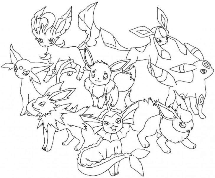 728x603 Pokemon Eevee Coloring Pages