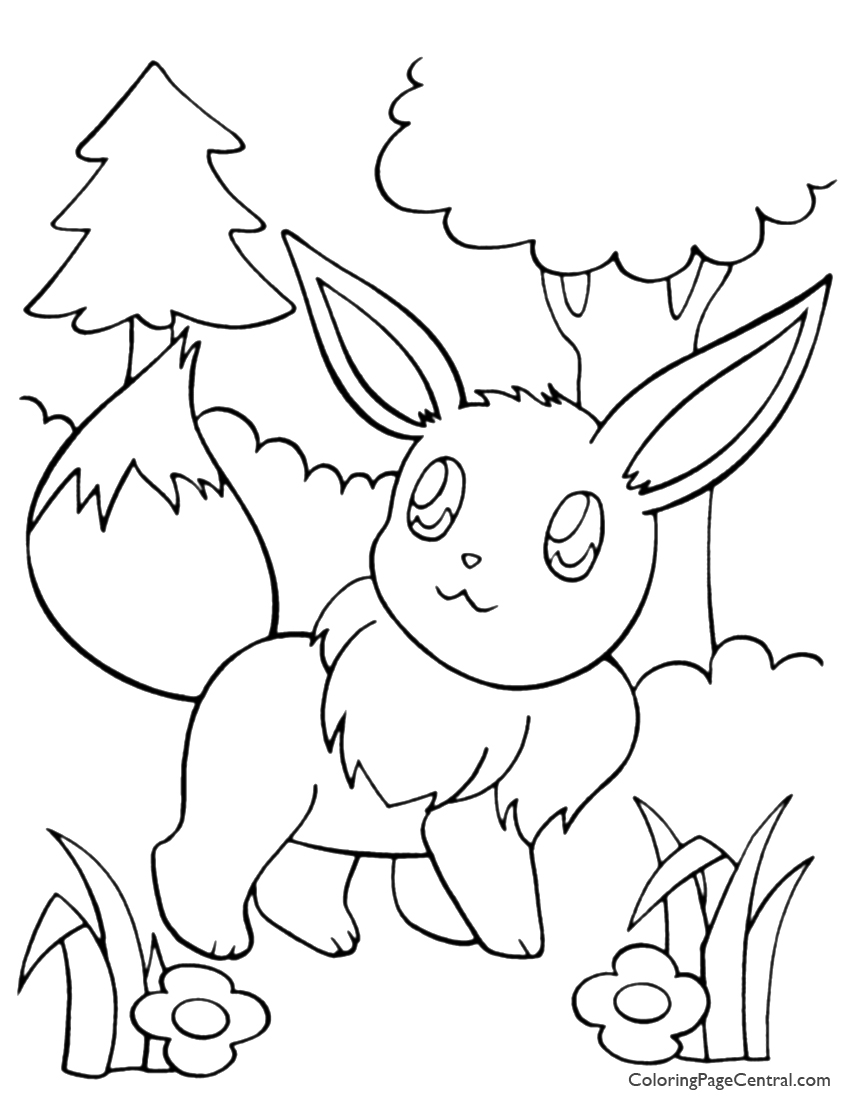 850x1100 Pokemon Eevee Coloring Page Coloring Page Central