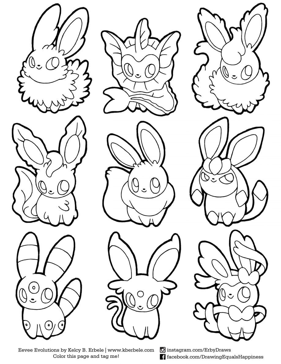 918x1188 Coloring Eevee Evolutions Coloring Pages Printable Eevee Coloring
