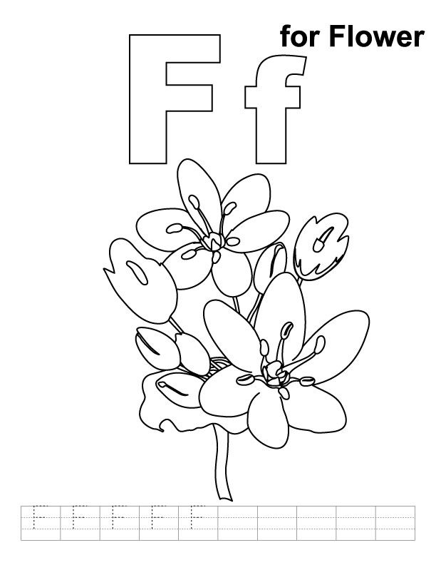 612x792 F Coloring Page Lesson Home School Club