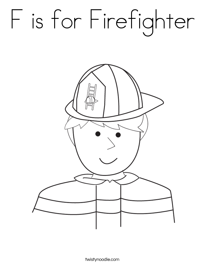 685x886 F Is For Firefighter Coloring Page