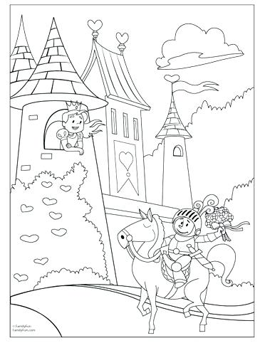 372x482 Fairy Tale Coloring Pages