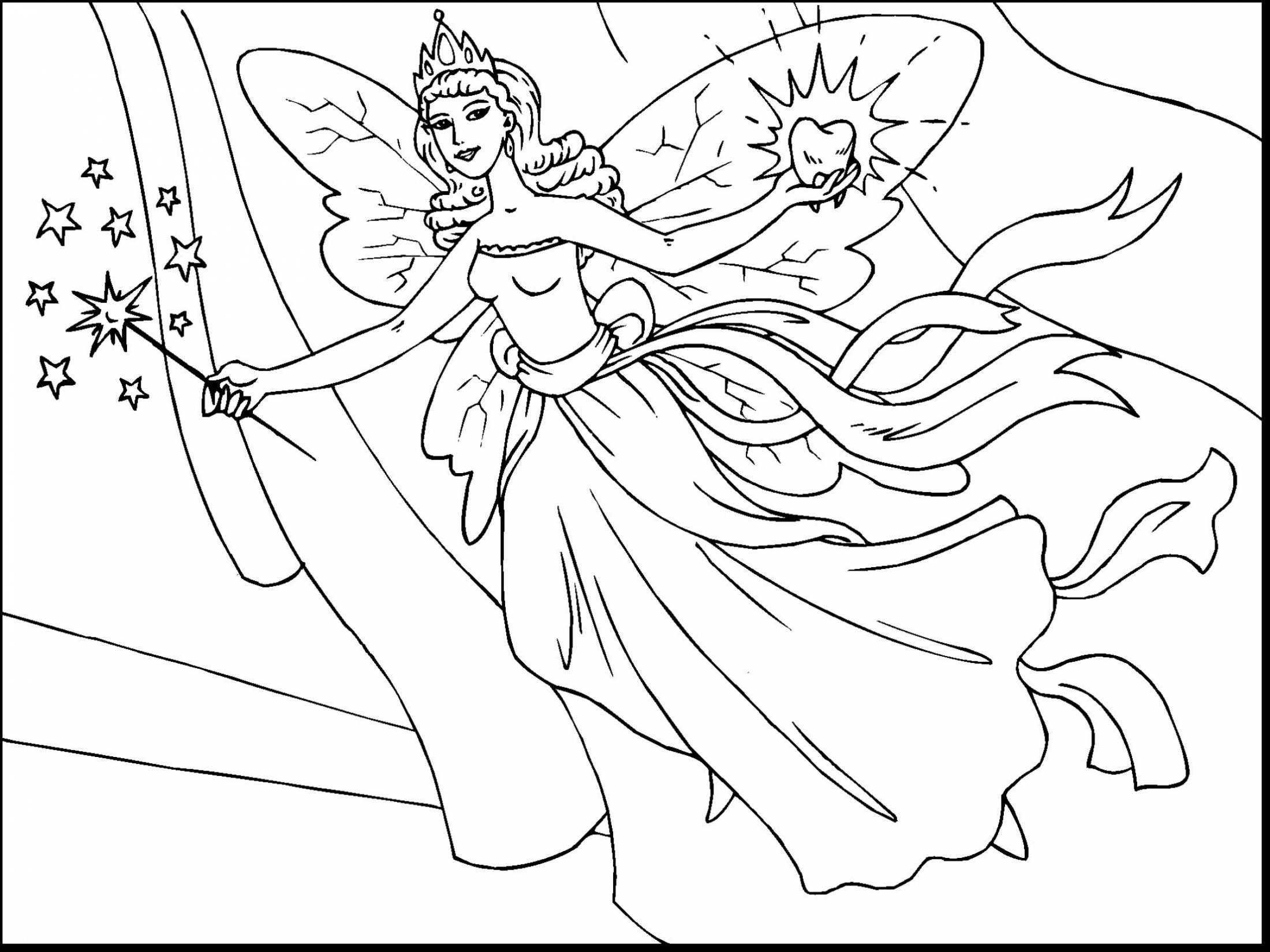 2200x1650 Gorgeous Fairy Tale Coloring Pages Preschool To Amusing Five
