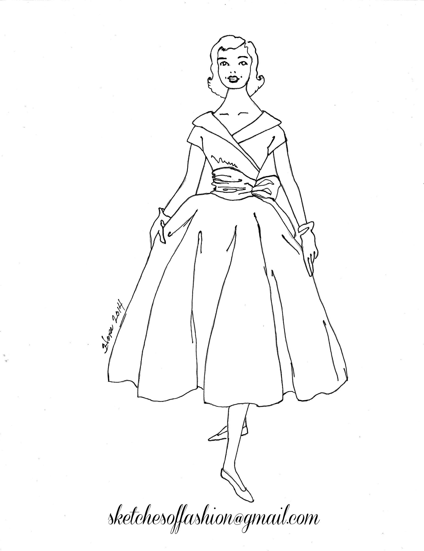 1693x2200 Fashion Design A Fashion Sketch Colouring Pages,fashion Design