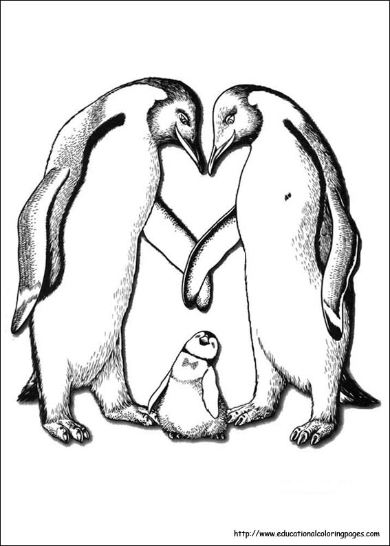 567x794 Happy Feet Coloring Pages