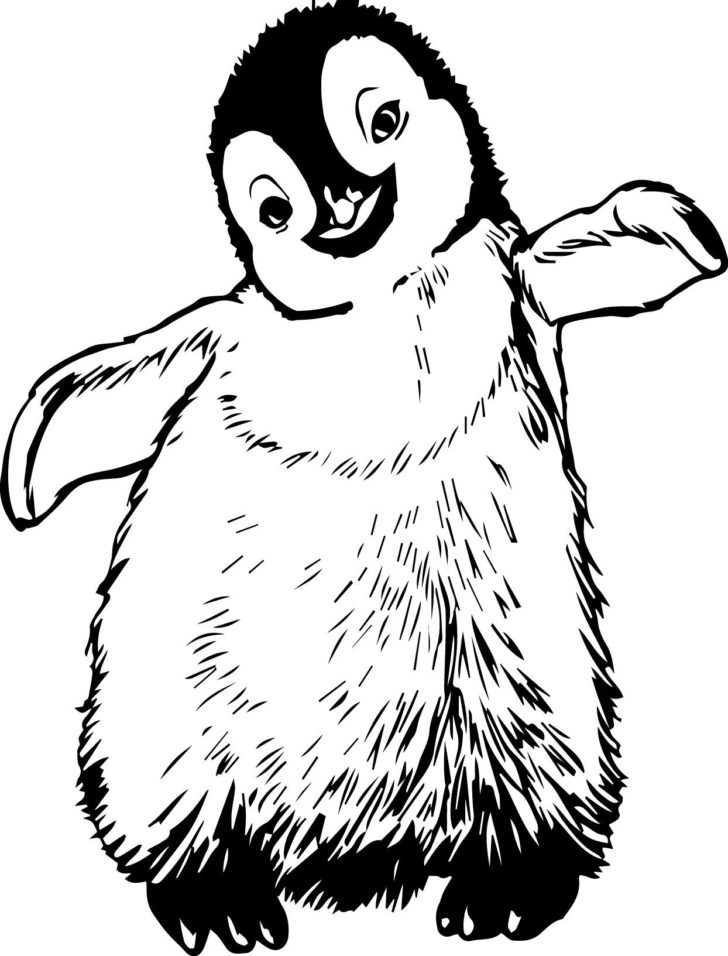 728x956 Happy Feet Coloring Pages Coloring Pages Kids