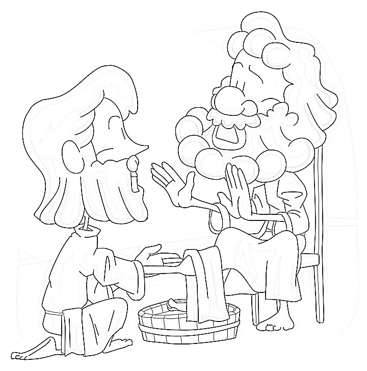 720x727 Jesus Washes The Disciples Feet Coloring Page Coloring Page