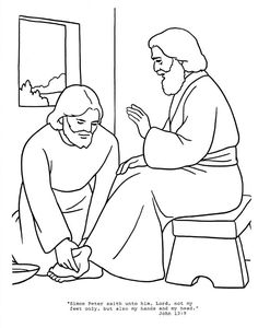 236x300 Jesus Washes The Disciples Feet Coloring Page Washing Feet Craft