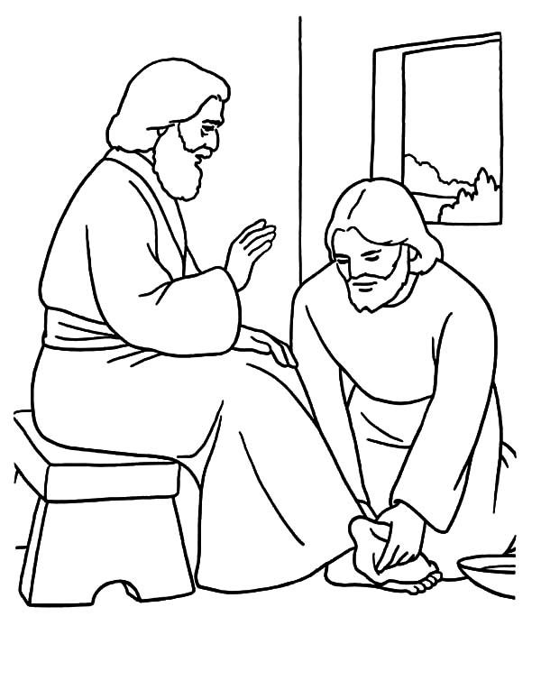 600x765 Kindness, Kindness Jesus Washing Feet Coloring Pages Coloring