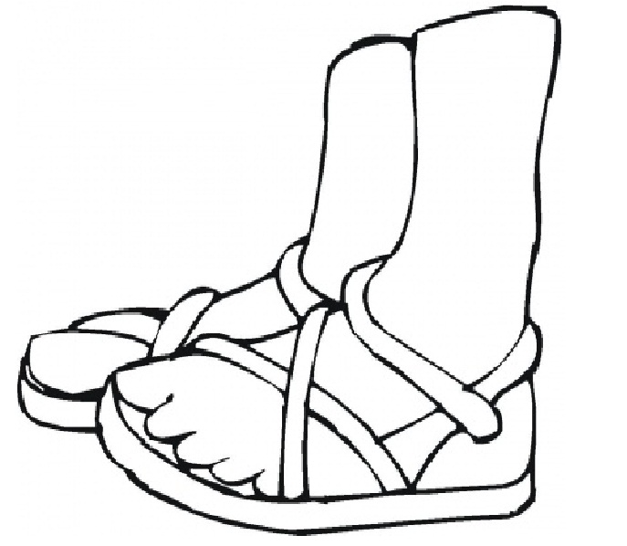 687x598 Coloring Pages Of Feet Coloring Pages