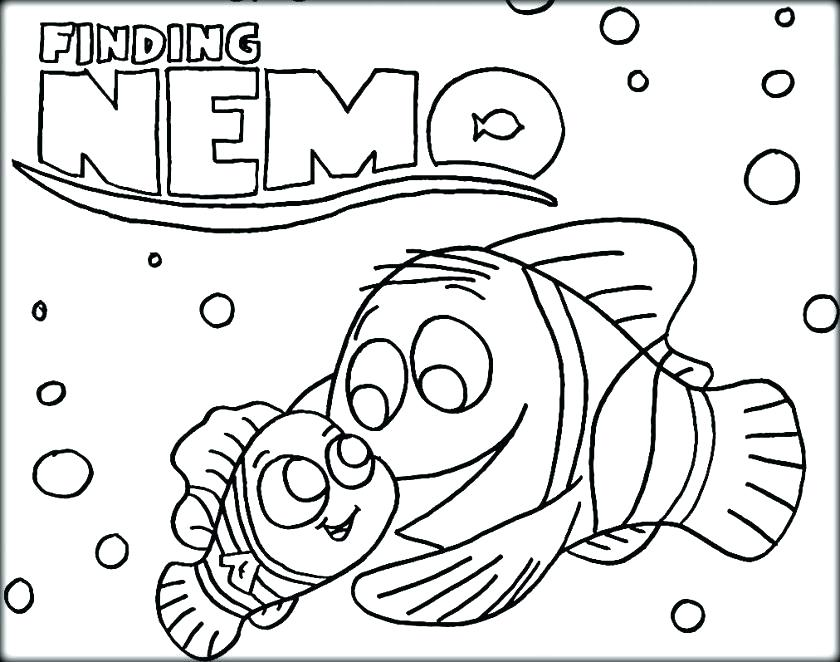 840x662 Finding Nemo Color Pages Finding Coloring Page Finding Movie Free