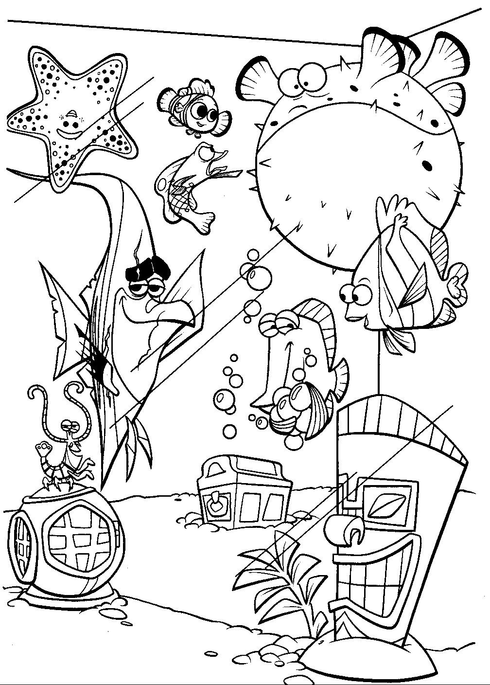 1008x1408 Finding Nemo Coloring Pages