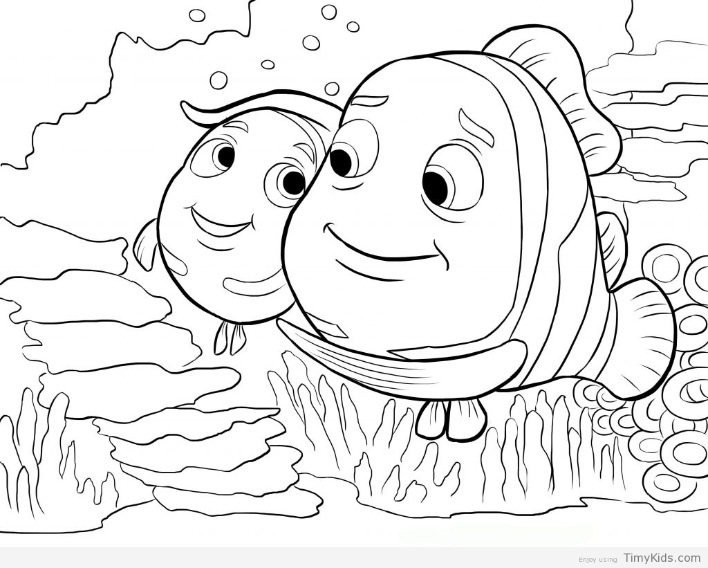 1024x821 Finding Nemo Coloring Pages Free Best And Dory