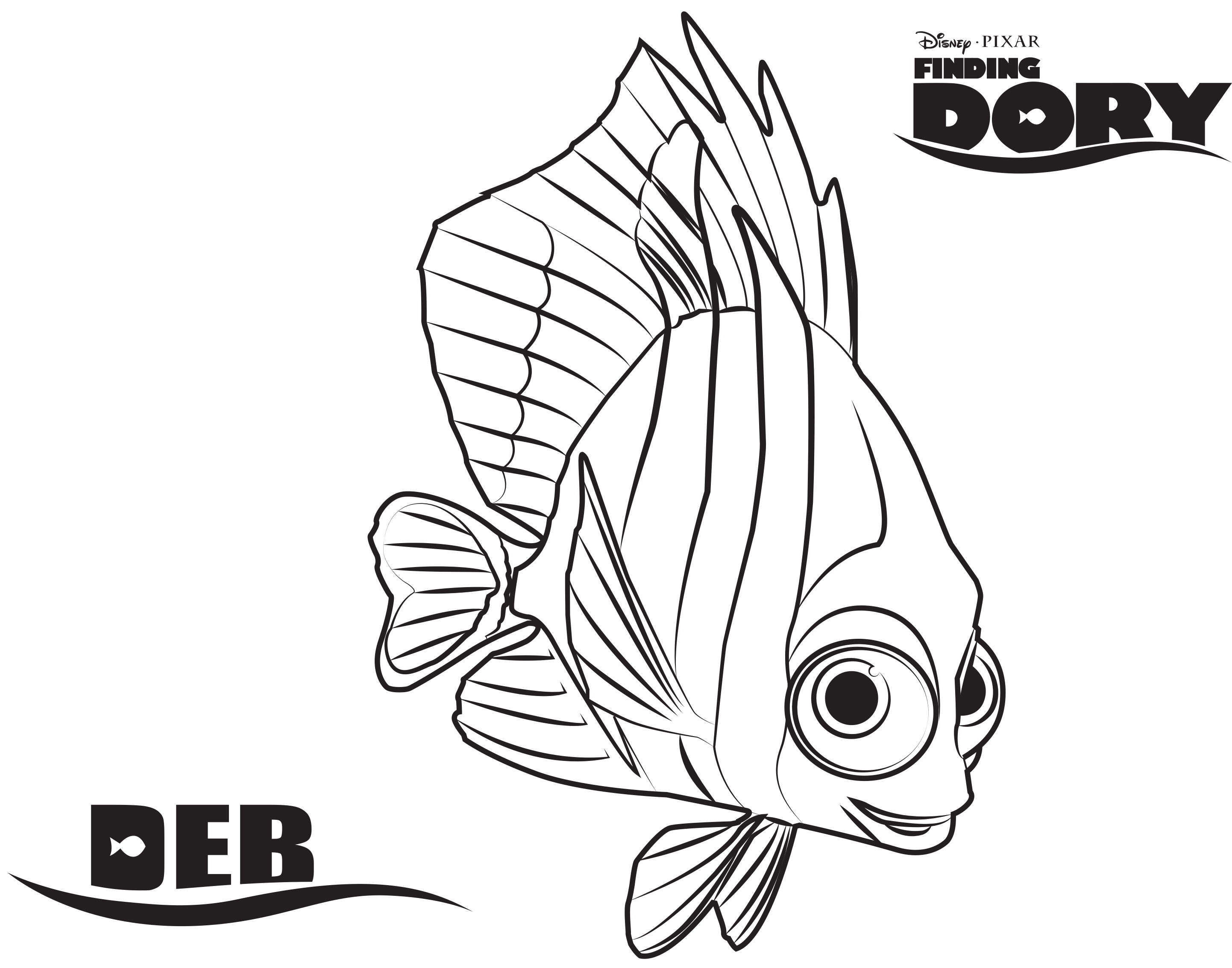 2884x2267 Breakthrough Nemo And Friends Coloring Pages Finding Dory Happily