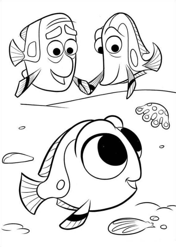 593x832 Dory Coloring Pages Kids N Fun Coloring Pages Of Finding Dory
