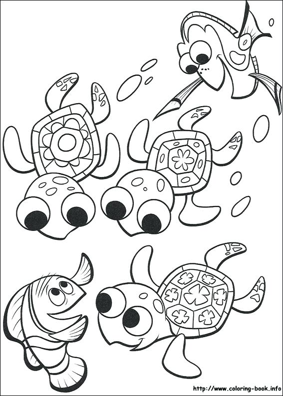 567x794 Finding Nemo Coloring Pages Free