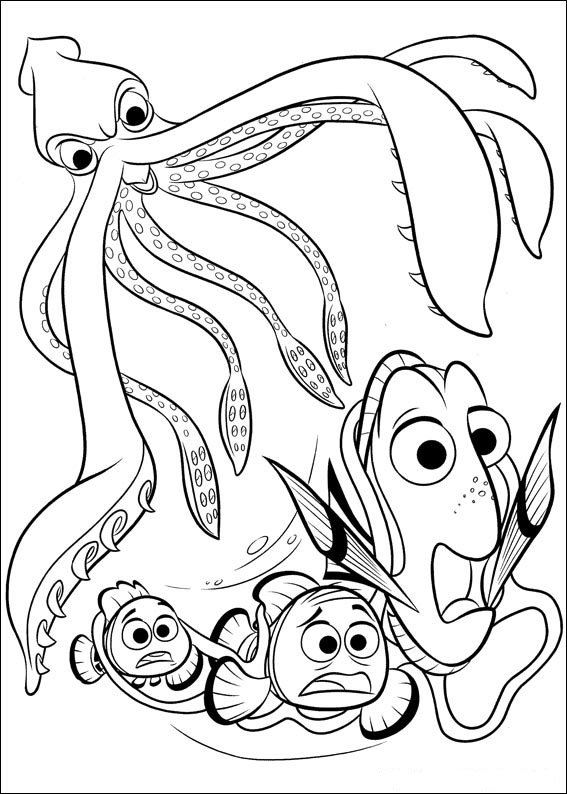 567x794 Finding Dory Coloring Pages To Download And Print For Free