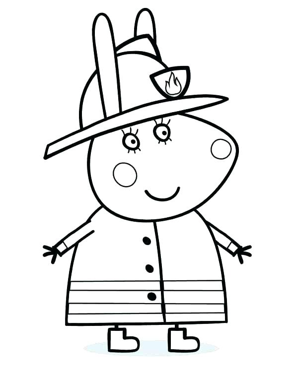 600x764 Fireman Coloring Pages Fire Fighter Coloring Pages Firefighter