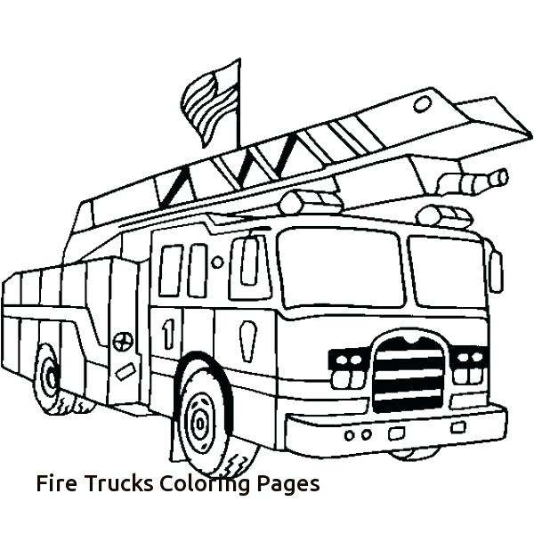600x600 Firetruck Coloring Pages Fire Truck With Firefighter Coloring Page