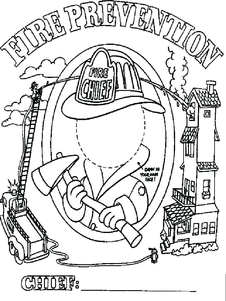 750x1000 Preschool Fire Prevention Coloring Pages