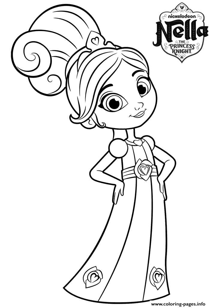 700x1024 Year Old Princess Nella Knight Coloring Pages Printable