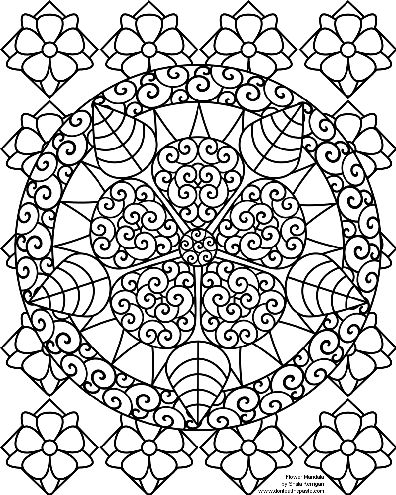 800x1000 Awesome Printable Abstract Flower Coloring Pages Design