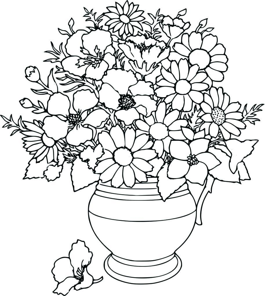 914x1024 Best Coloring With Flowers For Adults Page Fun Pics Of Abstract