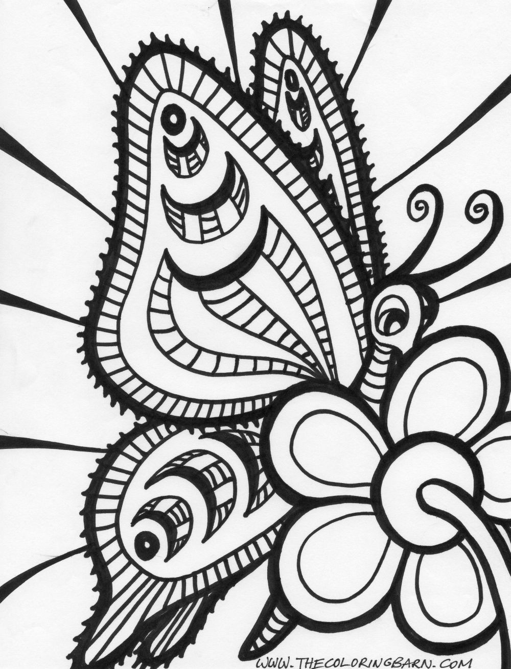 1000x1310 Coloring Pages For Adults Abstract Flowers