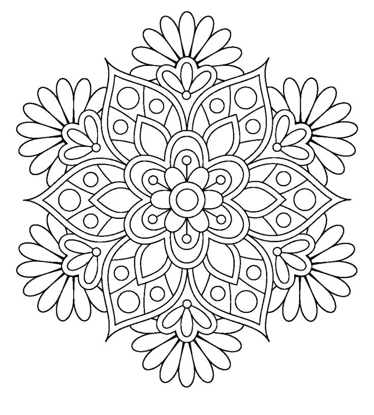 736x817 Coloring Pages Of Flowers For Adults Adult Coloring Pages Flowers