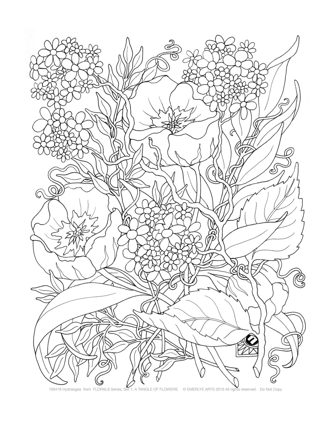 1159x1500 Coloring Pages For Adults Abstract Flowers