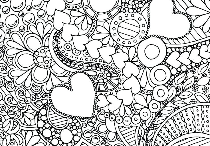 736x511 Love Coloring Pages For Adults Abstract Flowers Coloring Love