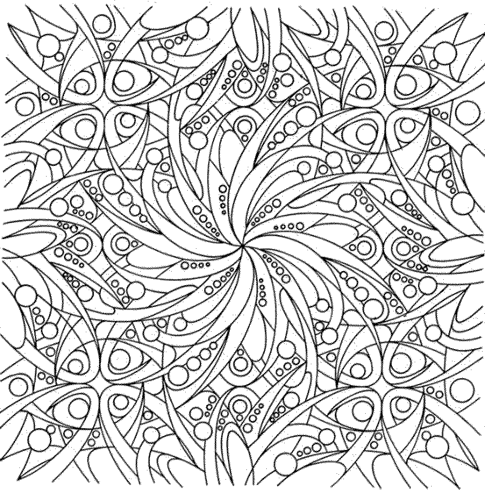 1000x1031 Marvelous Coloring Pages For Adults Flowers With Abstract