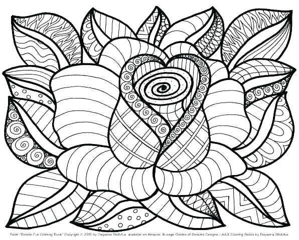 596x480 Printable Spring Flower Coloring Pages Free Coloring Abstract