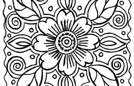 469x304 Coloring Pages For Adults Abstract Flowers Just Colorings