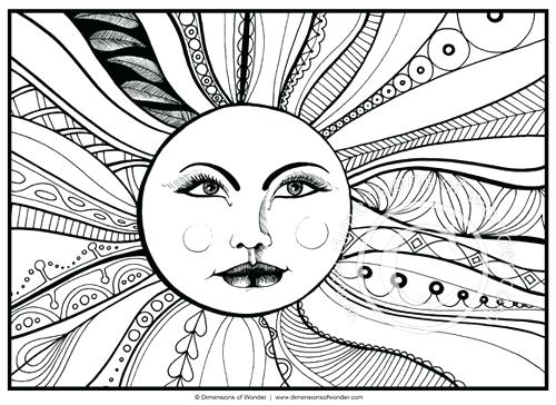 500x364 Abstract Flower Coloring Pages For Adults Easy In Addition