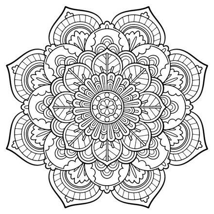 440x440 Adult Coloring Pages Beautiful Flower