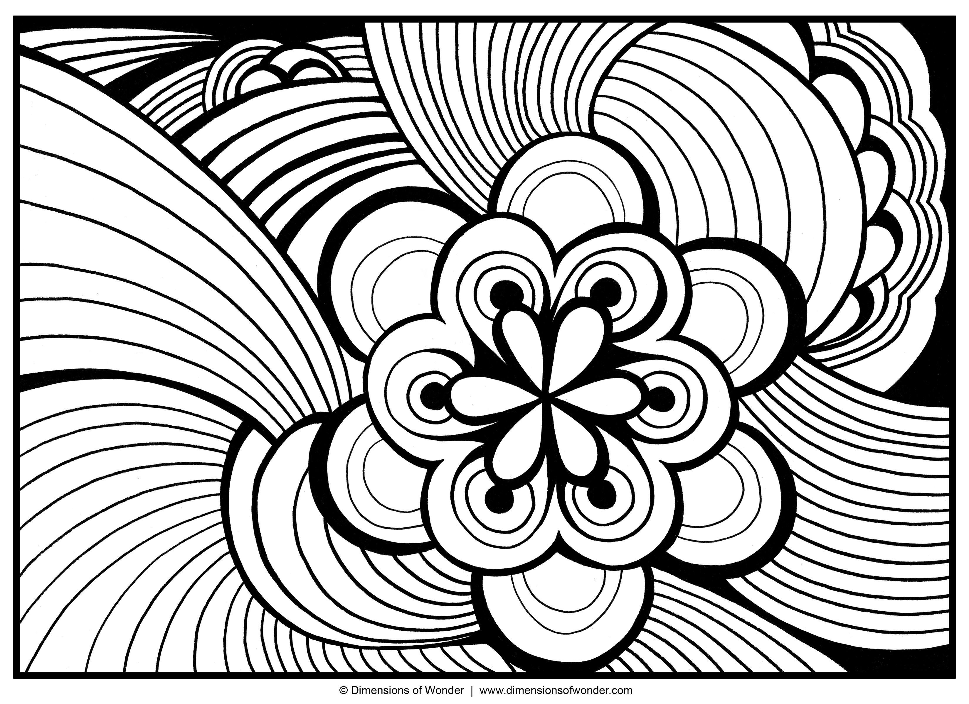 3300x2400 Awesome Coloring Pages For Adults Abstract Flowers Free Coloring