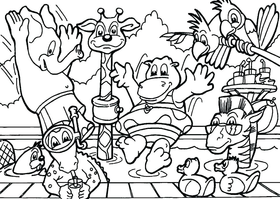 970x690 Forest Animals Coloring Pages Forest Coloring Page Forest Animals