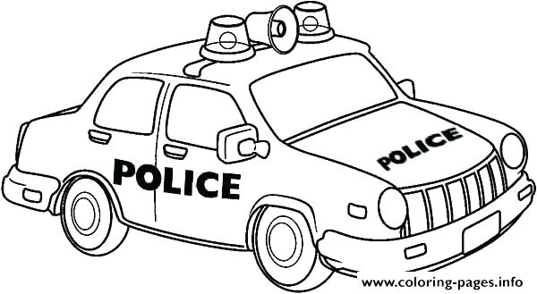600x329 Police Cars Coloring Pages Car Coloring Sheets Police Car Coloring
