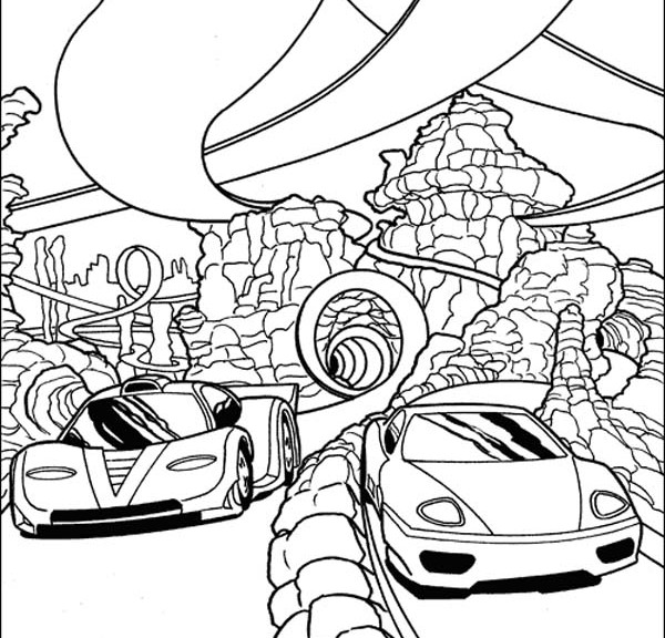 600x576 Race Car Coloring Pages