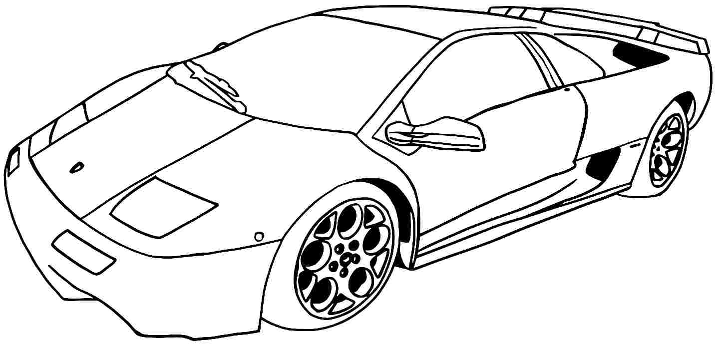 1434x693 Car Coloring Page